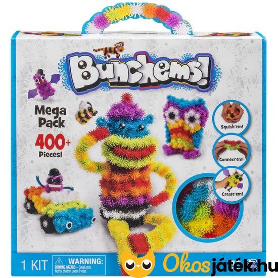 Bunchems Mega Pack 400db - ragacsos építőbolyhok kreatív készlet (JN)