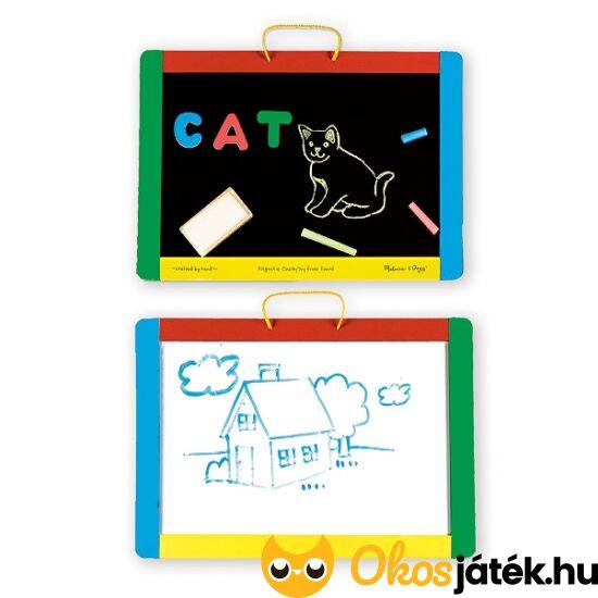 Fa rajztábla gyerekeknek - kétoldalú, mágneses - Melissa 10145 (ME-11)