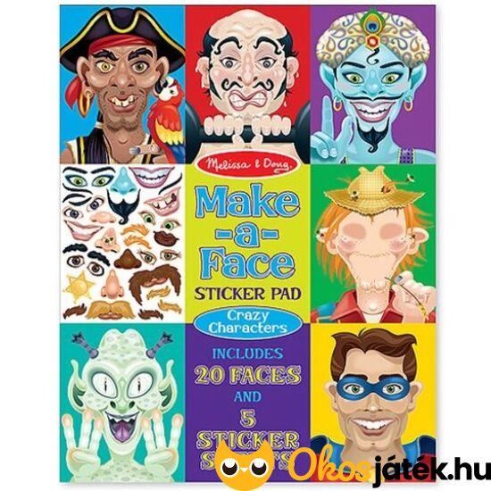 """Vicces arcok - Kalózok, szuperhősök - matricás kreatív játék  - Melissa Doug 14237 (ME-KP) """"Utolsó darabok"""""""
