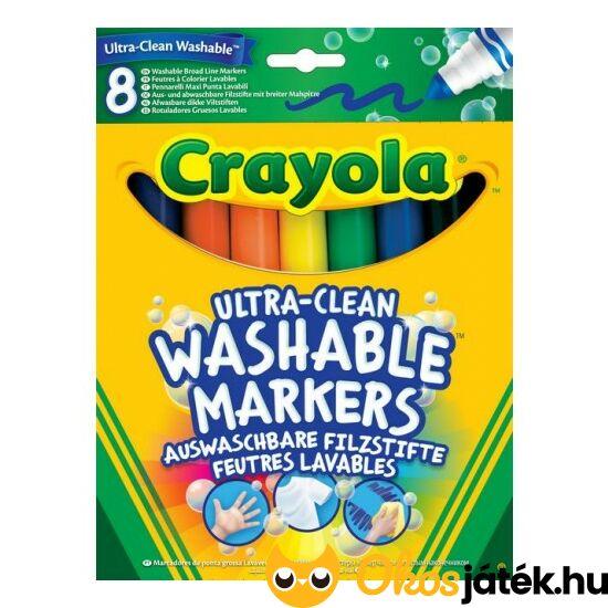 """Crayola vízzel kimosható filctoll (8db-os)  (MH) 8328 """"Utolsó darabok"""""""