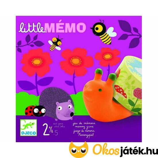 Little memo - memória társasjáték két éves kortól - DJ8552 Djeco (BO)