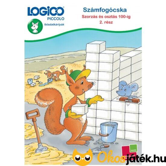 LOGICO Piccolo 3484 - Számfogócska: Szorzás és osztás 100-ig feladatlapok 2. rész 8+