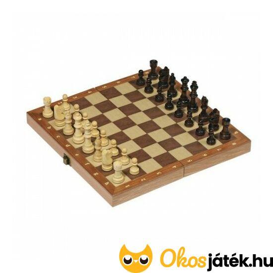 Fa sakk készlet, minőségi sakk készlet fából (30*30cm) - Goki 56921 (GO)