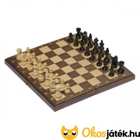 Mágneses sakk készlet fából (28*28cm) Goki 56920 (GO)