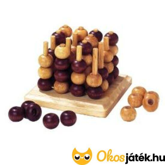 Térbeli amőba játék fából - Goki logikai fajáték HS058 (GO)