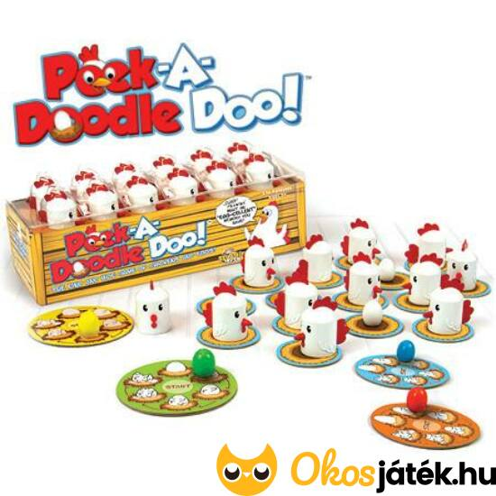 Vidám csibék társasjáték (Peek a Doodle Doo) (HO)