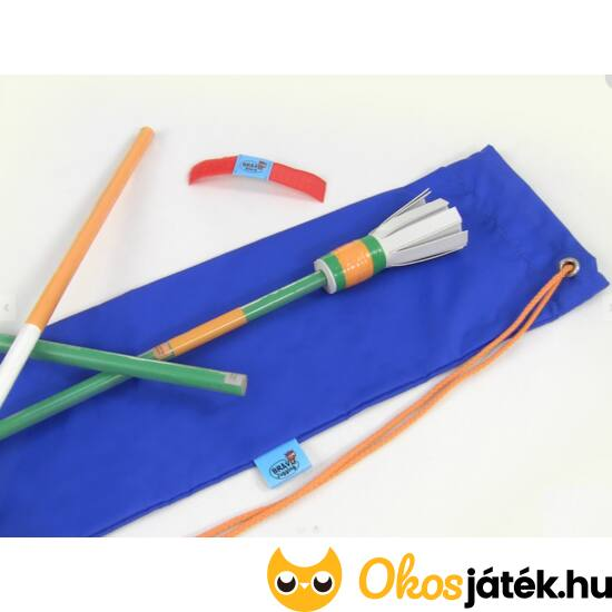 Bravo Stick ördögbot, virágbot - üvegszálas, minőségi - narancs-zöld (EG)