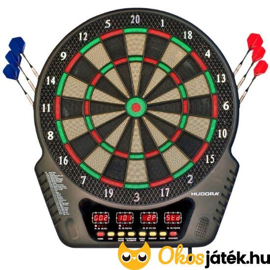Elektromos Darts játék - tábla nyíl készlettel,LED-es kijelzővel (Hudora) (HU)