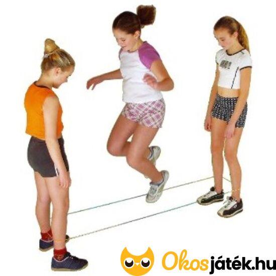Gumizáshoz gumi ugrálókötél (Hudora, szivárvány színű) (HU-R)