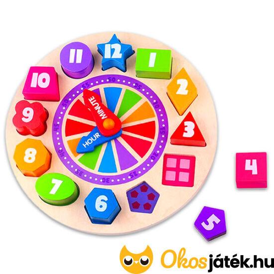 Fa óra tanító játék és formaberakó egyben TKF042 (TK)