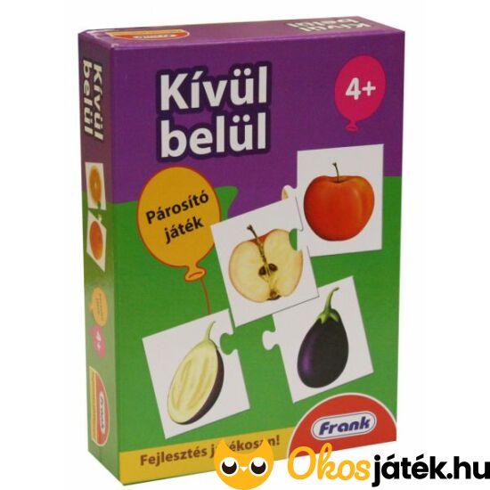 Kívül-belül párosító játék - zöldségek és gyümölcsök - HO FRANK 26106
