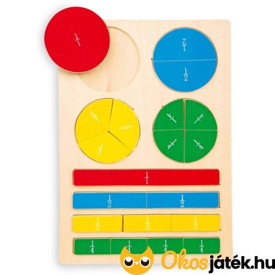 """Törtek puzzle - LE 4436  """"utolsó darabok"""""""