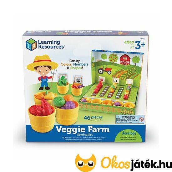Veggie Farm - számoló, szortírozó játék zöldségekkel - LER 5553