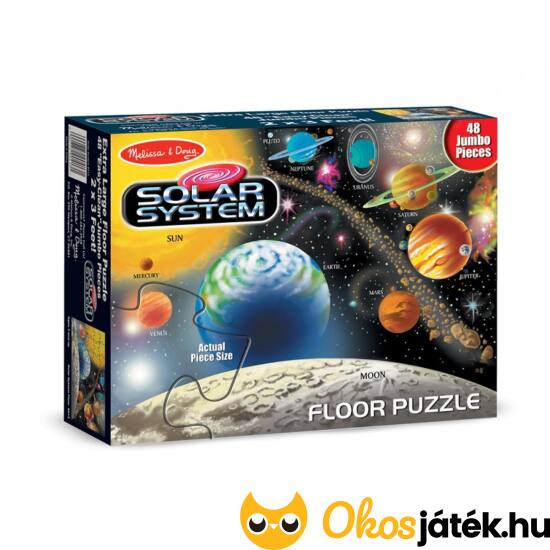 Bolygók padló puzzle 48 darabos - Melissa & Doug Naprendszer puzzle 10413 (ME-25)