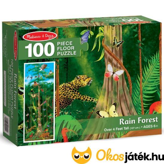"""Esőerdő - vadállatos puzzle kirakó - 100db darabos, Melissa 10444 (ME-23) """"Utolsó darabok"""""""