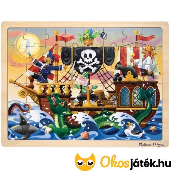 """Kalózos, kalózhajós fa puzzle, 48 db-os - Melissa 13800 (ME-73) """"utolsó darabok"""""""