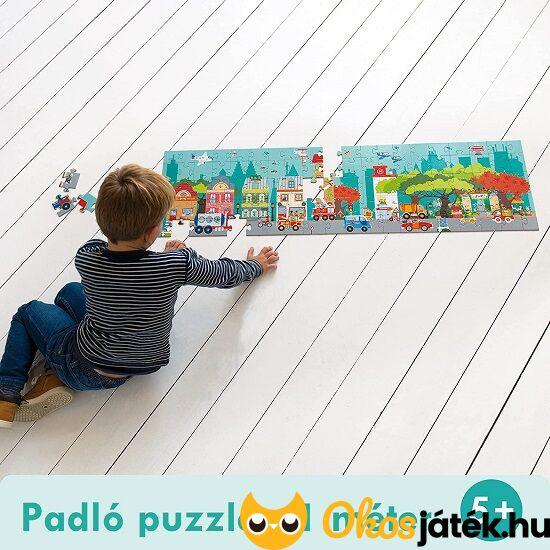 óriás puzzle 100 darabos a város autós fiúknak