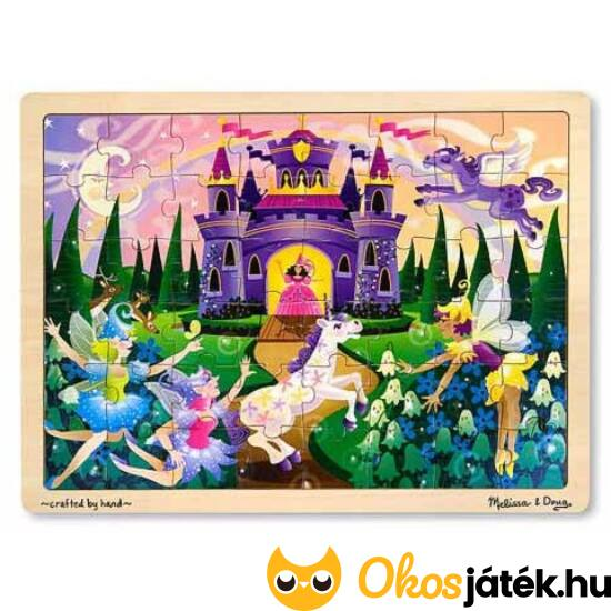 Tündéres, lovas fa puzzle, 48db-os - Melissa Doug 13804 (ME-73)