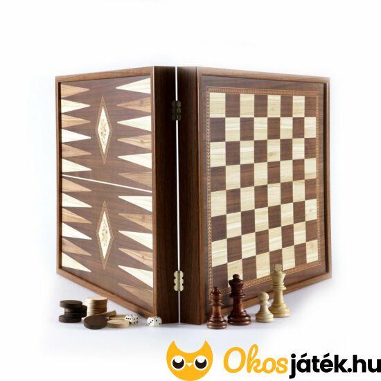intarziás sakk és backgammon játék egyben