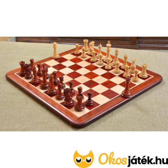 Kézzel készített, egyedi gyártású sakk készlet rózsafa figurákkal D0163
