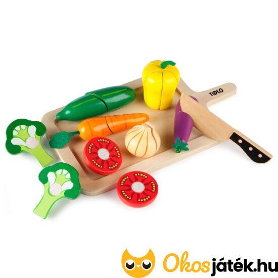 Szeletelhető zöldségek játék fából JC T-0215 (JC)