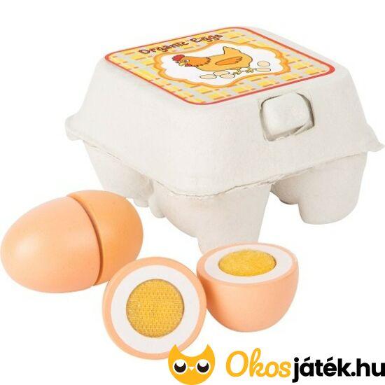 Fa tojás játék - szeletelhető fa tojások - LE 10591