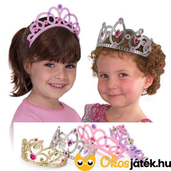 Hercegnő korona ( tiara) - 4 db-os játék korona készlet (Melissa Doug) 18525 (ME-82)