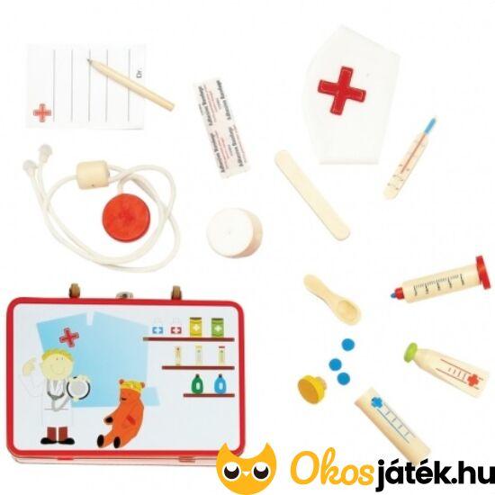 Doktortáska fa játék orvosi eszközökkel - 2271 (FA)