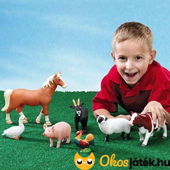 Műanyag farm állatok - 7 darabos háziállatok játék készlet - LER0694 (LR)