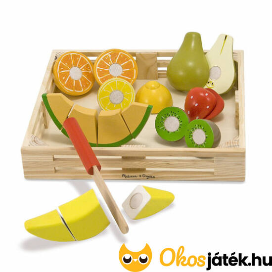 Szeletelhető játék gyümölcsök fából - Melissa 4021 (ME-R1)