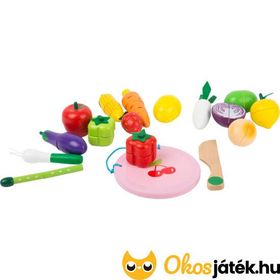 Szeletelhető zöldségek játék fából, mágneses - Legler