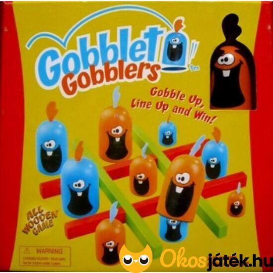 """Gobblet Gobblers trükkös amőba szerű társasjáték gyerekeknek FA  """"Utolsó darabok"""""""