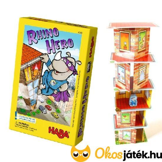 HABA Super Rhino kártyavár építő, ügyességi társasjáték gyerekeknek (HA)