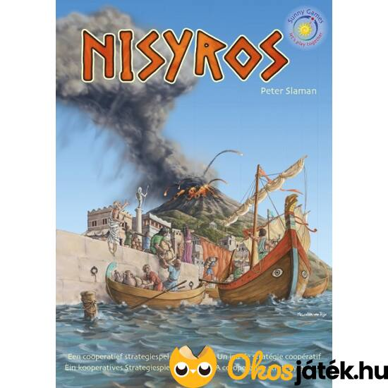 """Nisyros, vulkános kooperatív társasjáték (KO) """"utolsó darabok"""""""