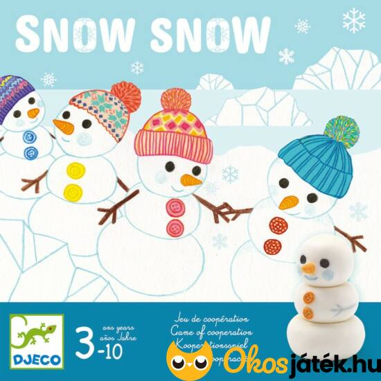 Snow Snow - hóemberes kooperatív társasjáték - DJ8492 Djeco (BO)