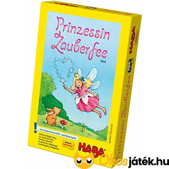 """Prinzessin Zauberfee - Varázstündér,  HABA kooperatív társasjáték (HA) """"utolsó darabok"""""""