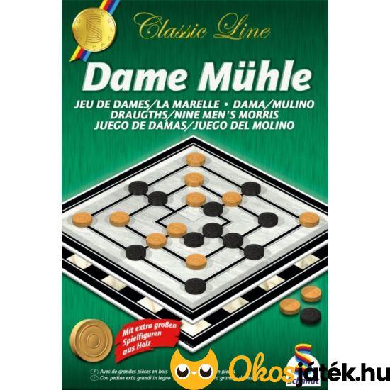 """Malom társasjáték és dáma játék egyben (Schmidt) Dame Mühle (GA) """"Utolsó darabok"""""""