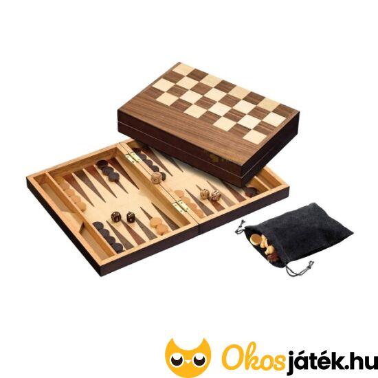 Philos sakk, dáma, backgammon játék fából - 2508 (PG)