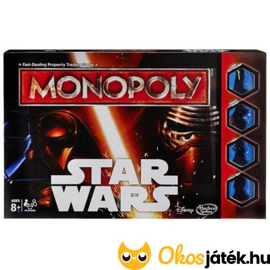 Star Wars Monopoly társasjáték (JS)