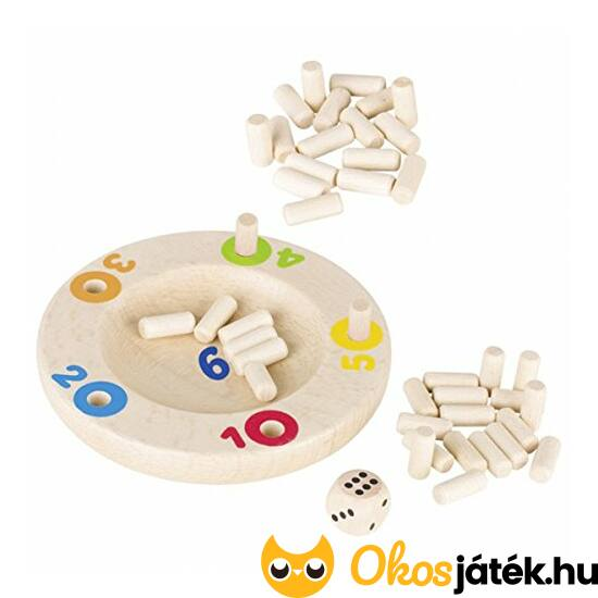 Super six játék fából - Goki 56888 (GO)
