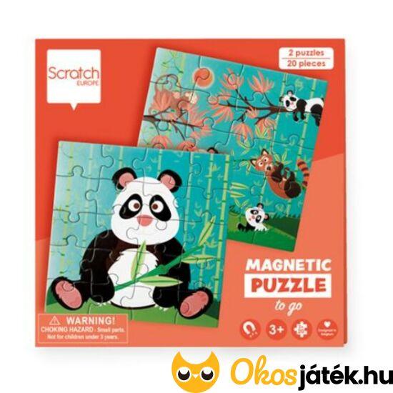 mágneses panda puzzle