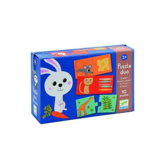 Puzzle duo állatok és eledeleik - DJ 8166