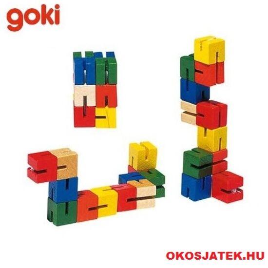 Goki tekerhető (mini) fa kígyó játék (HS012) (GO)